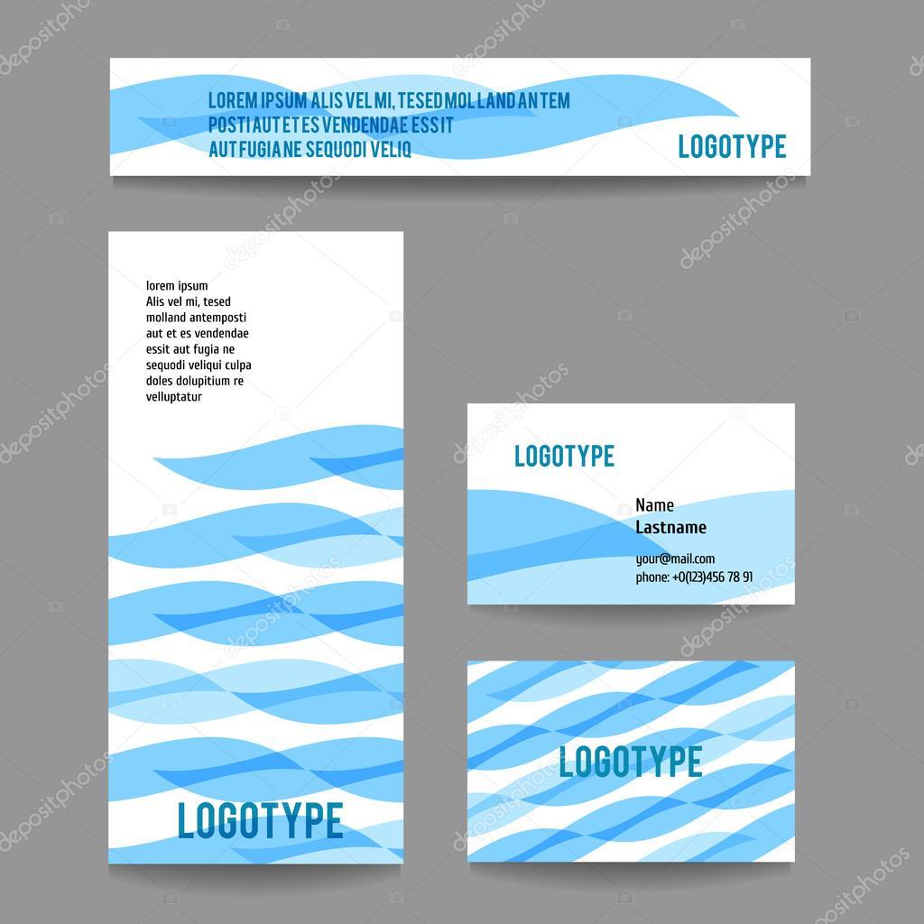 Vector corporate template with stripes.