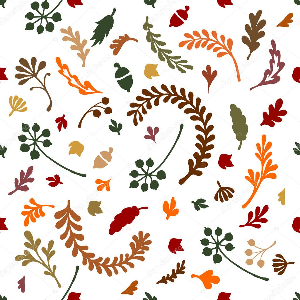 Pattern of leaves and plants.