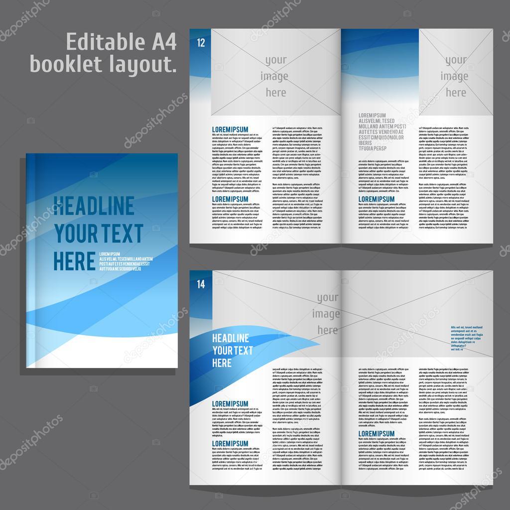 A4-Buch-Layout-Design-Vorlage — Stockvektor © mashabr #84944362