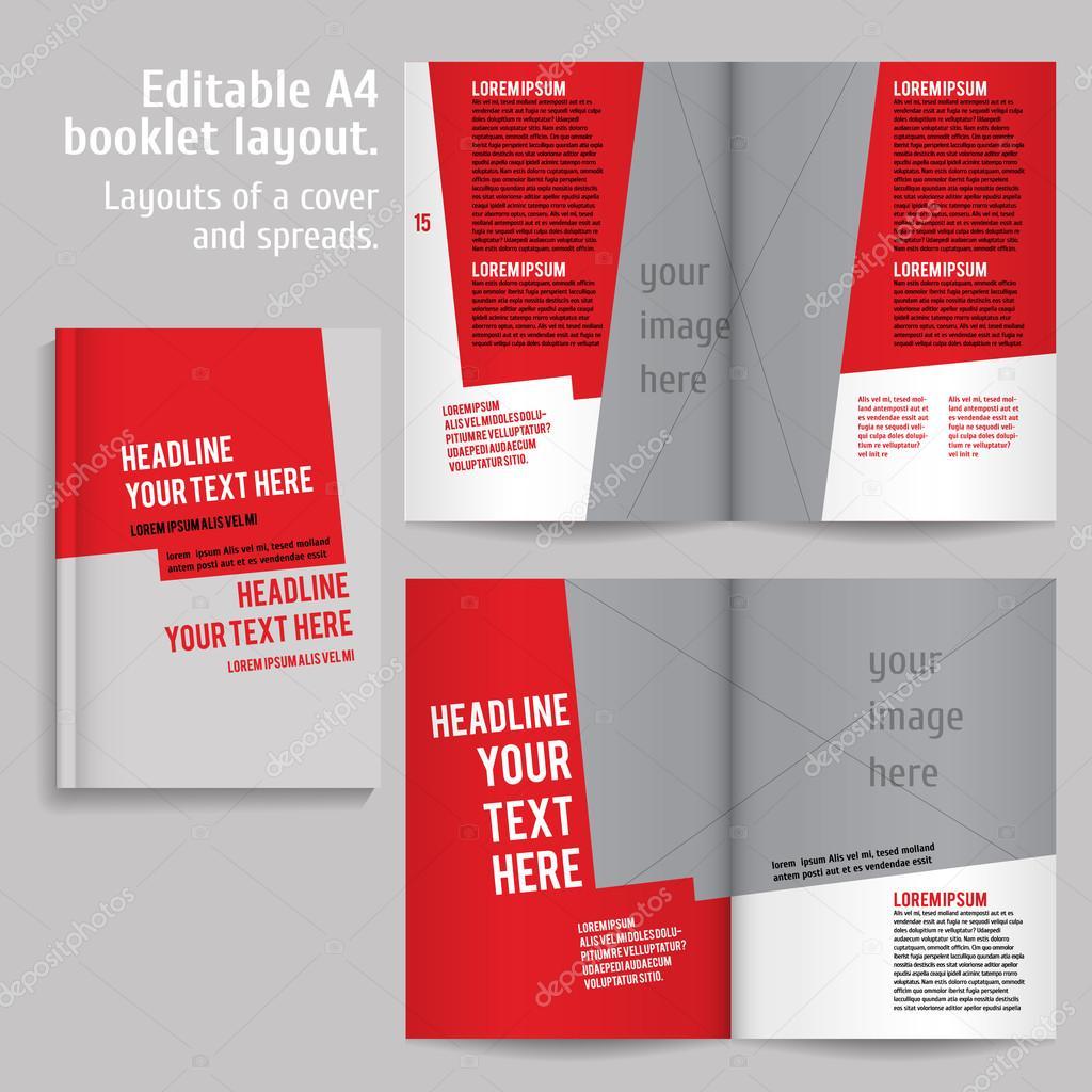 A4-Buch-Layout-Design-Vorlage — Stockvektor © mashabr #84988650