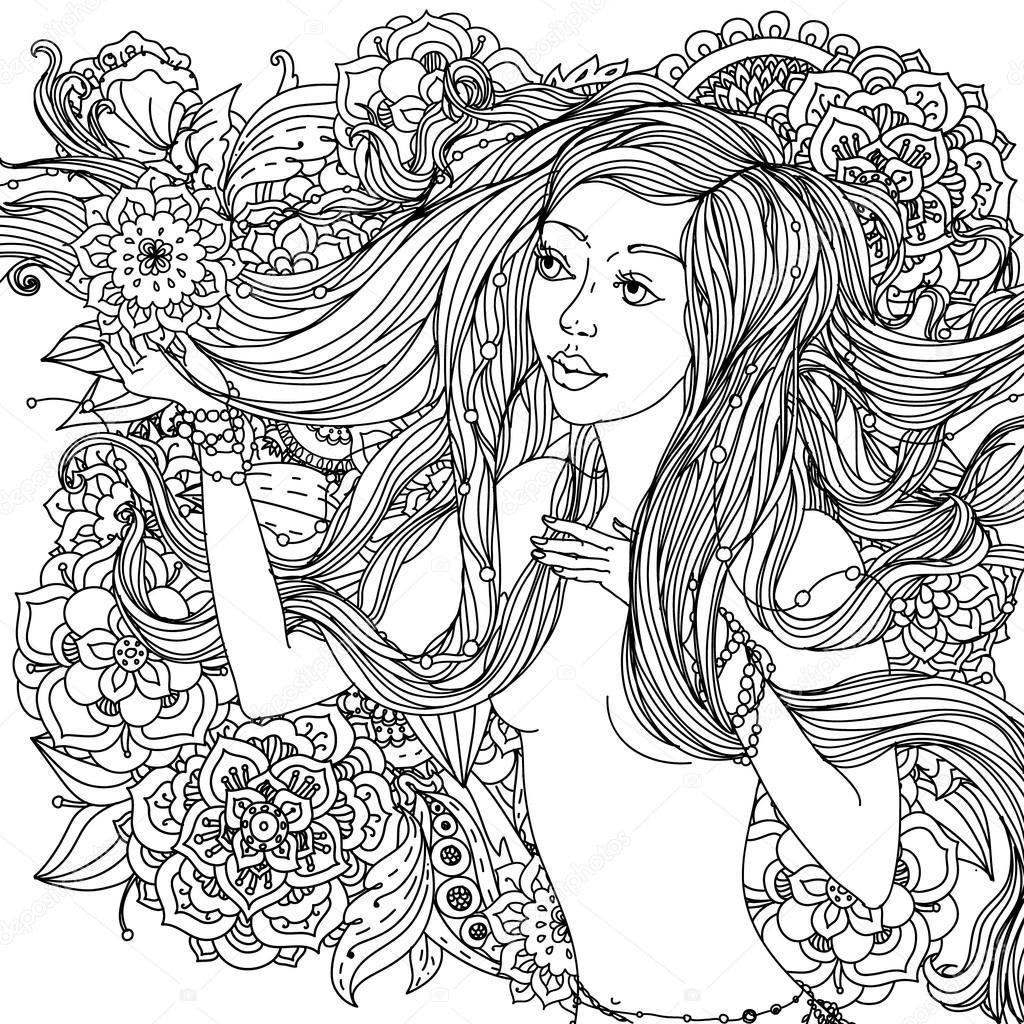 Imágenes Mujeres Hermosas Para Colorear Mujeres Hermosas