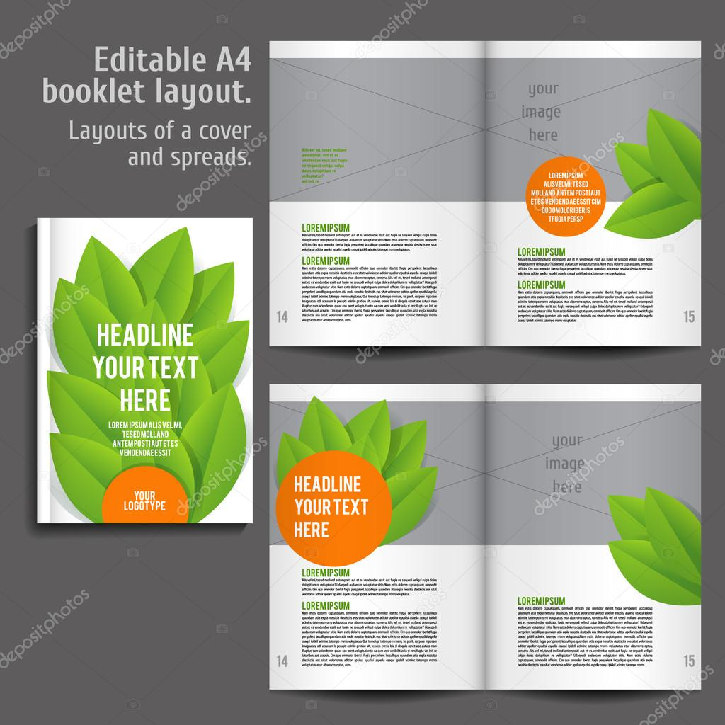 a4 book layout design template stock vector mashabr 87974328