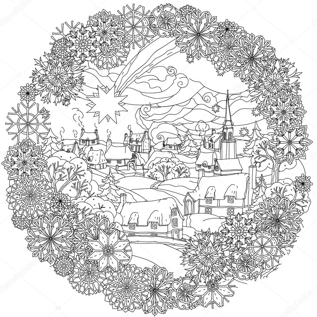 Circle Christmas Balls Ornament Vector Image By Mashabr Vector Stock 93662604