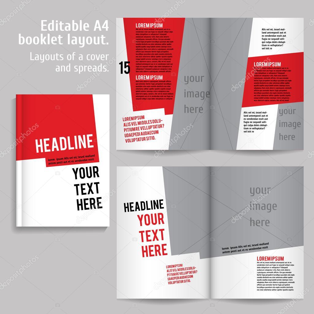 A4-Buch-Layout-Design-Vorlage — Stockvektor © mashabr #95989062