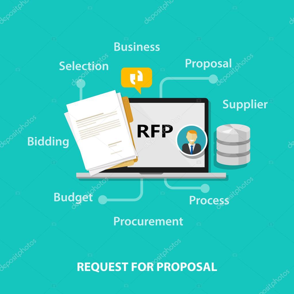 Solicitud de RFP de vector de ilustración de icono de propuesta ...