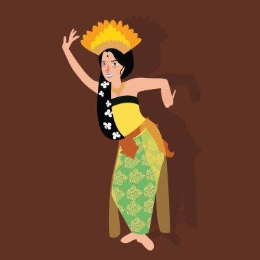 bali balinese dancer traditional indonesia dance kecak culture costume asian woman girl