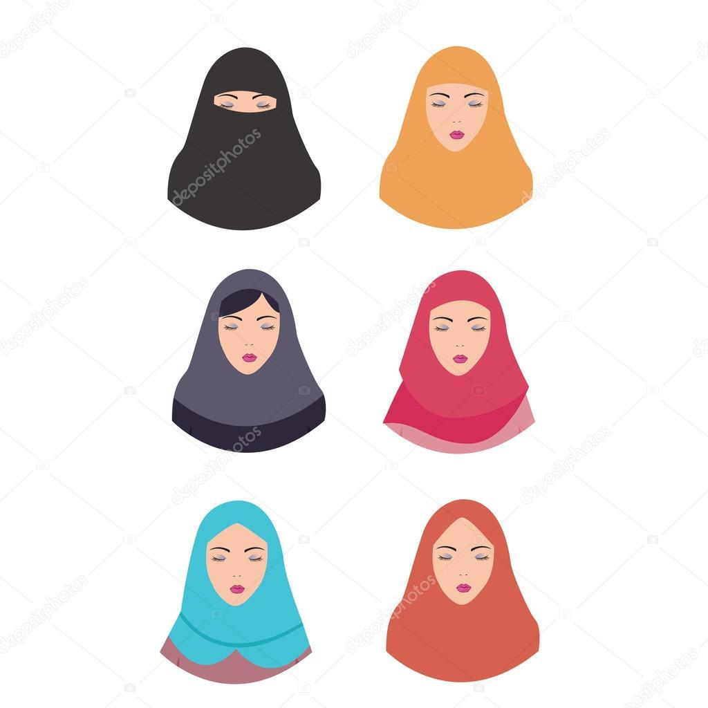 Vecteurs Pour Femme Voilee Illustrations Libres De Droits Pour Femme Voilee Depositphotos