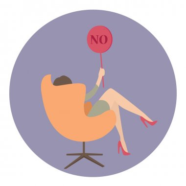 woman business say no show sign