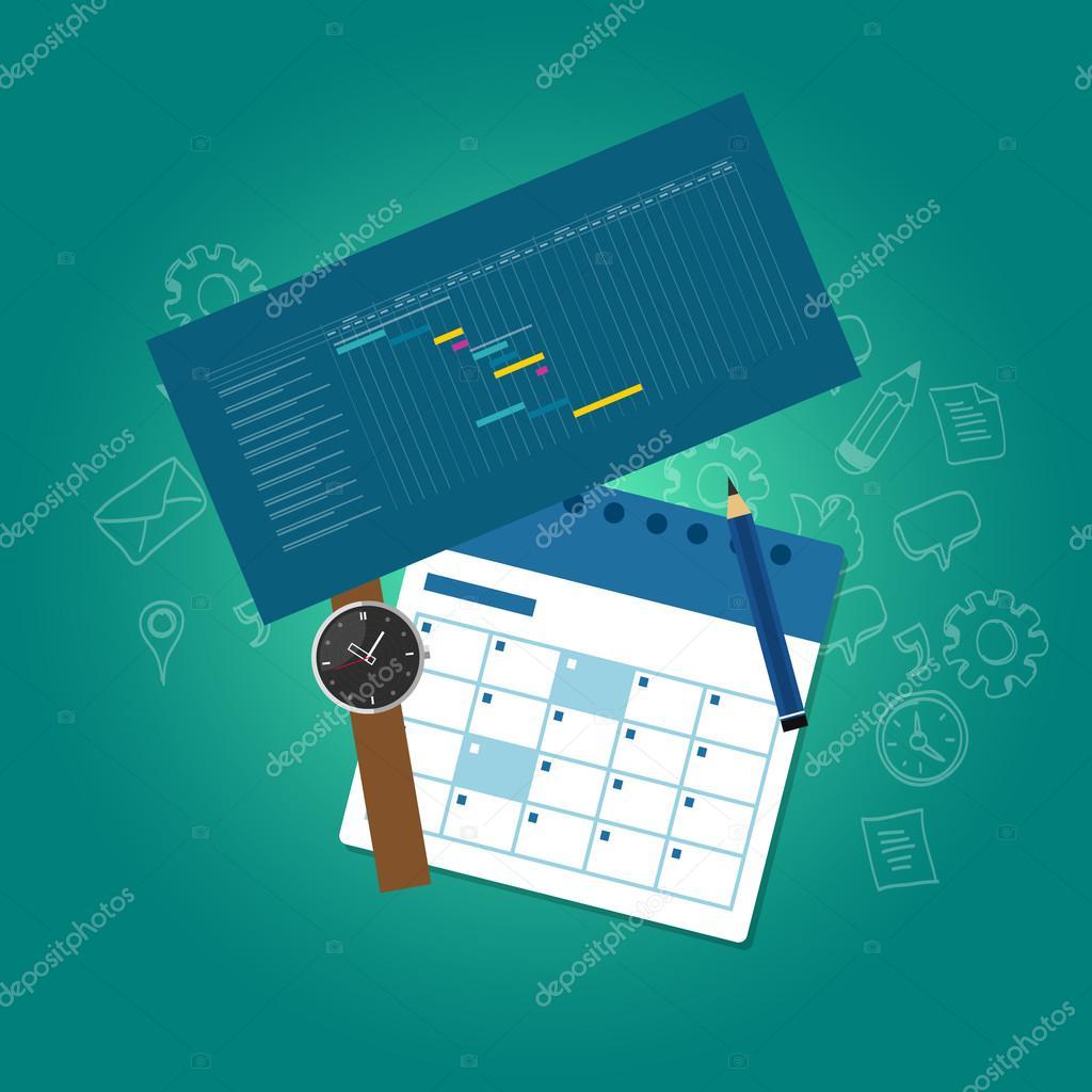 Organizacja i planowanie czasu kalendarza osi czasu wykresu gantta organizacja i planowanie czasu kalendarza osi czasu wykresu gantta wektor wektor od bakhtiarzein ccuart Choice Image