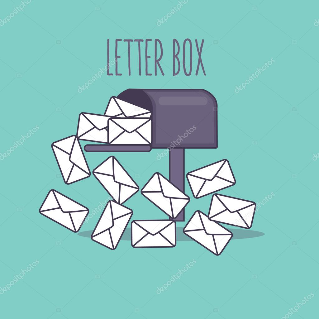 Full inbox email mailbox letter box flat icon illustration envelope full inbox email mailbox letter box flat icon illustration envelope stock vector spiritdancerdesigns Gallery
