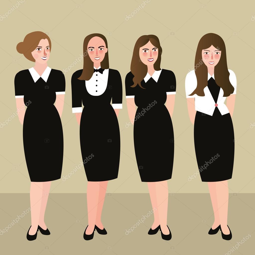 Vestidos formales negro con blanco