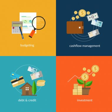 personal finance icon set