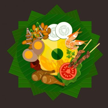 indonesia tumpeng rice traditional food