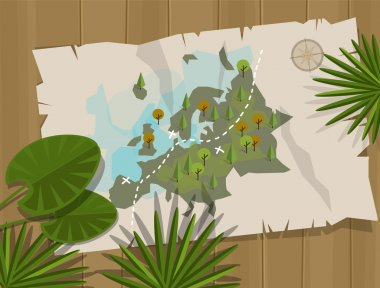 jungle map europe cartoon adventure