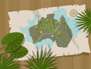 jungle map australia cartoon adventure