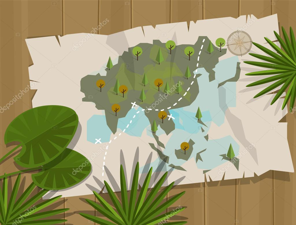 jungle map asia cartoon adventure