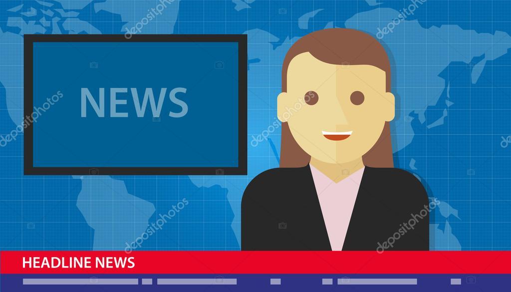 anchor woman news headline breaking tv