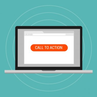 Call to action landing page optimization effective layout traffics vector stock vector
