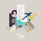 Bezahlen Sie Steuer Steuern Geld Symbol Einkommen Steuern Währung berechnen