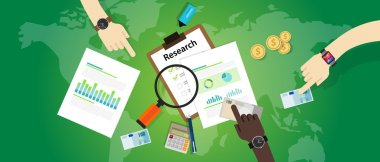market research analysis chart bar pie business process product information focus