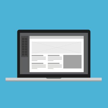 wireframe ui ix design software laptop web development process