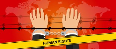 human rights freedom illustration hands under wire crime against humanity activism symbol handcuff