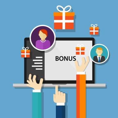 bonus employee reward  benefits promotion offer