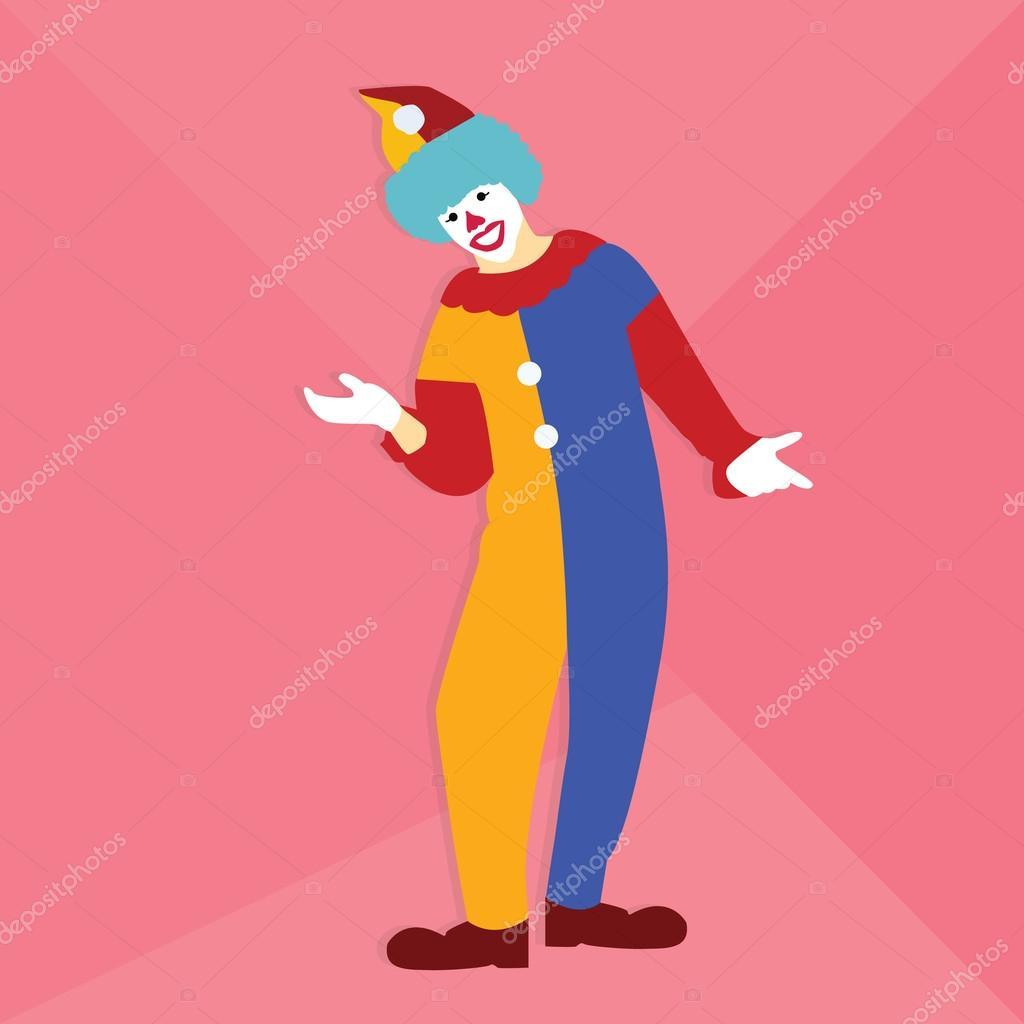 sonrisa de payaso circo divertido en fiesta ropa colorido permanente ...