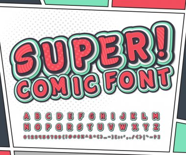 Colorful comic font