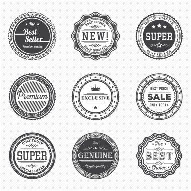 Vintage Labels template set