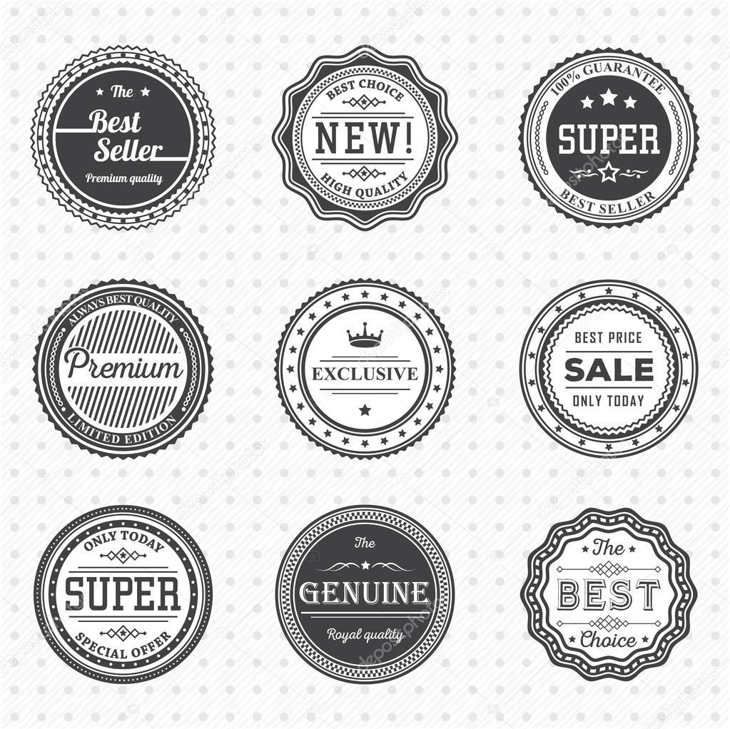 vintage label template