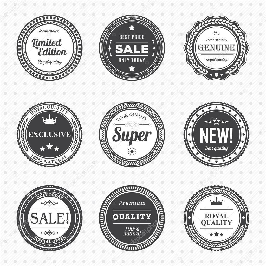 Vintage Labels Template Set Stock Vector Anosko 65370365