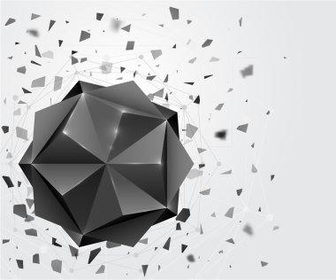 Polygonal geometric shape.