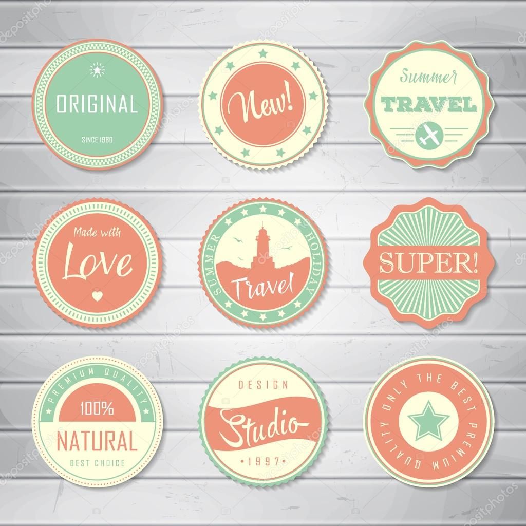 Vintage Labels Template Set Super Original New Best Choice