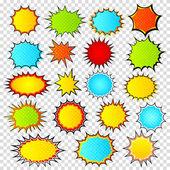 Fényképek Állítsa be a sablonok színes beszéd buborék pop art stílusban. Képregény
