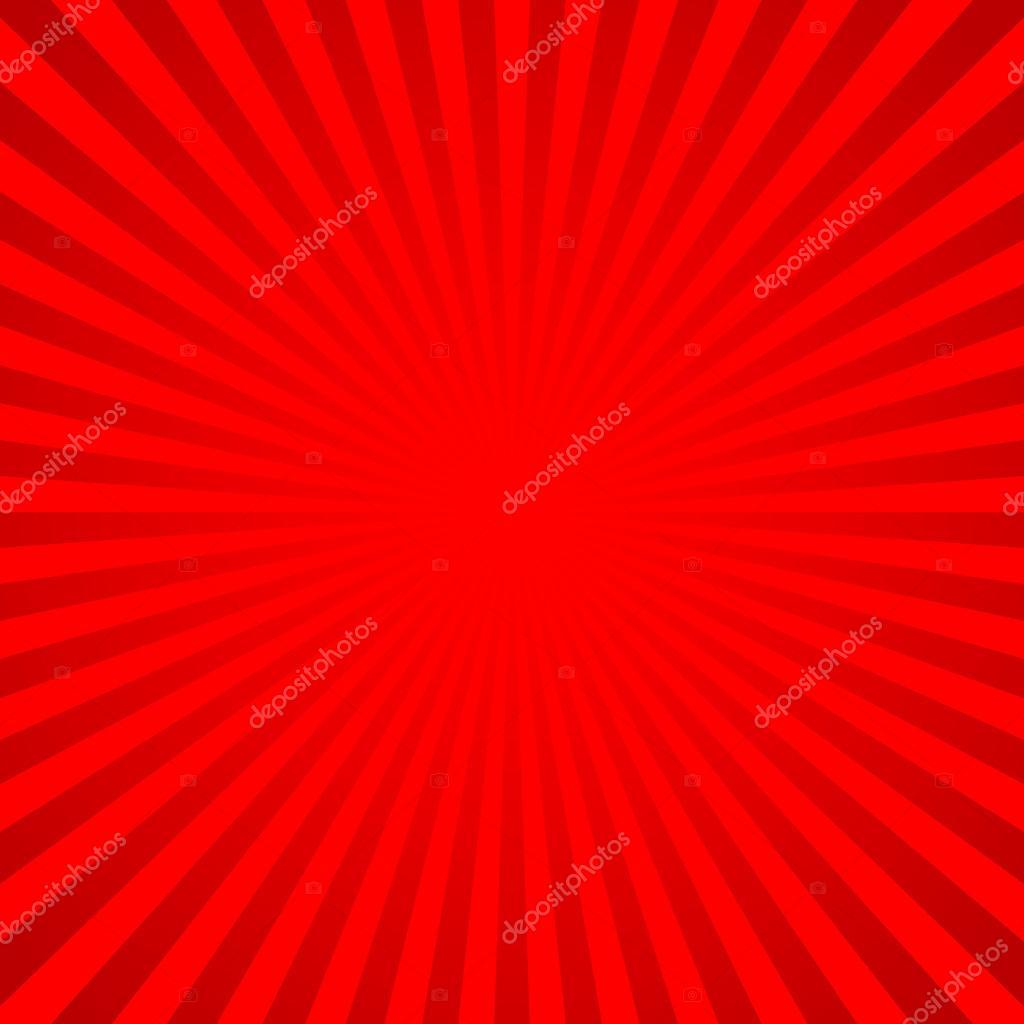 Fondo Rojo Vector De Líneas Radiales