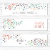 Vintage karty s květinovými vzory a květinové ornamenty