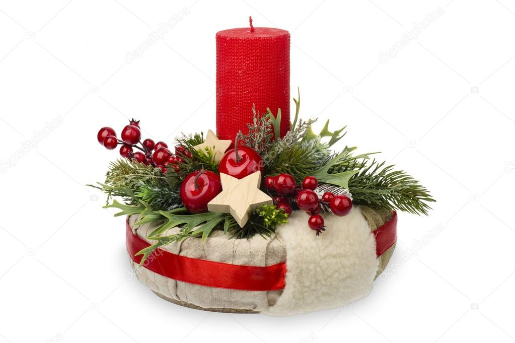 Boże Narodzenie Dekoracje Kompozycja świąteczne Z Wieniec