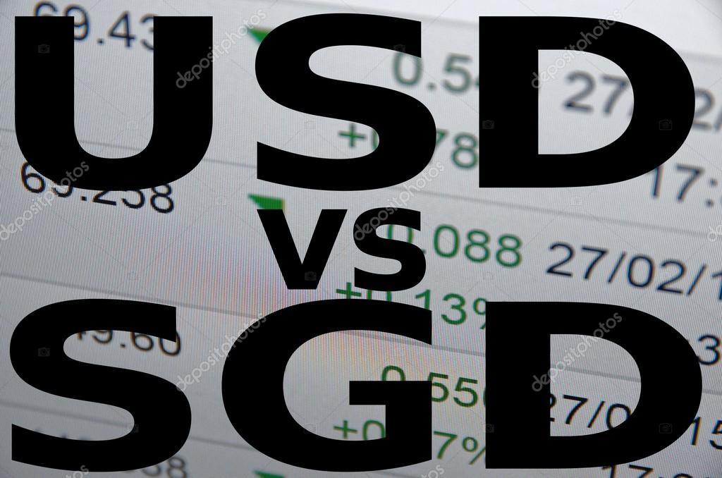 Us Dollar Versus Singapore Dollar Stock Photo G0d4ather 72936505