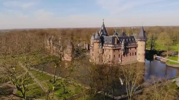 letecký pohled na zámecký hrad de haar