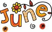 Fotografie Textové doodle pro měsíc červen