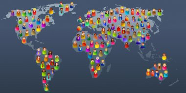 Diverse world on the map