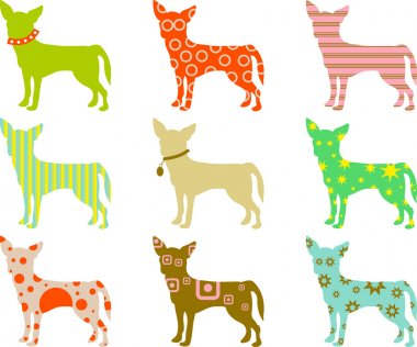 Patterned Chihuahuas background
