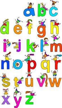 Illustration of letters of the alphabet