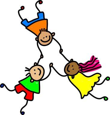 United kids - mixed race