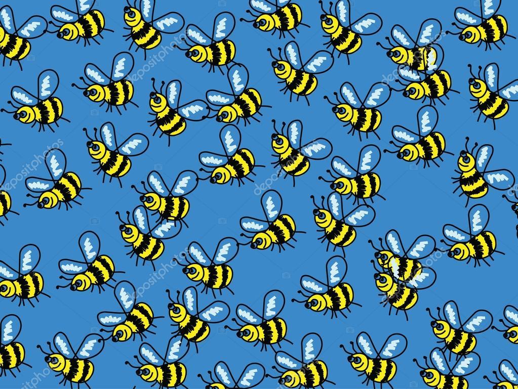обои пчелы геральдические на стену светореле прочного