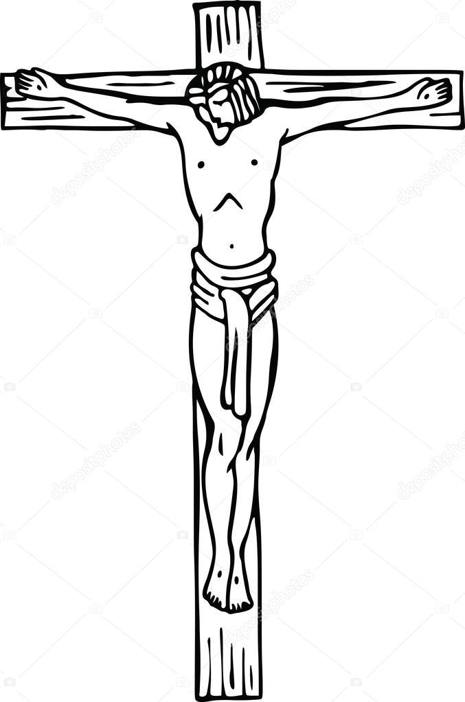 salvador abençoado na cruz do calvário vetor de stock prawny