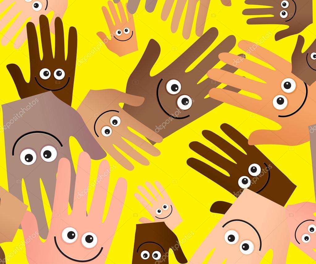 Happy Hands Cartoon ClipArt Anatomie — Stockvektor © Prawny #64288707