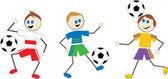 Kreslené děti fotbal