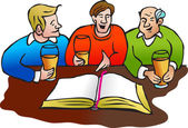 Muži seděli, diskuse o Holy Bible